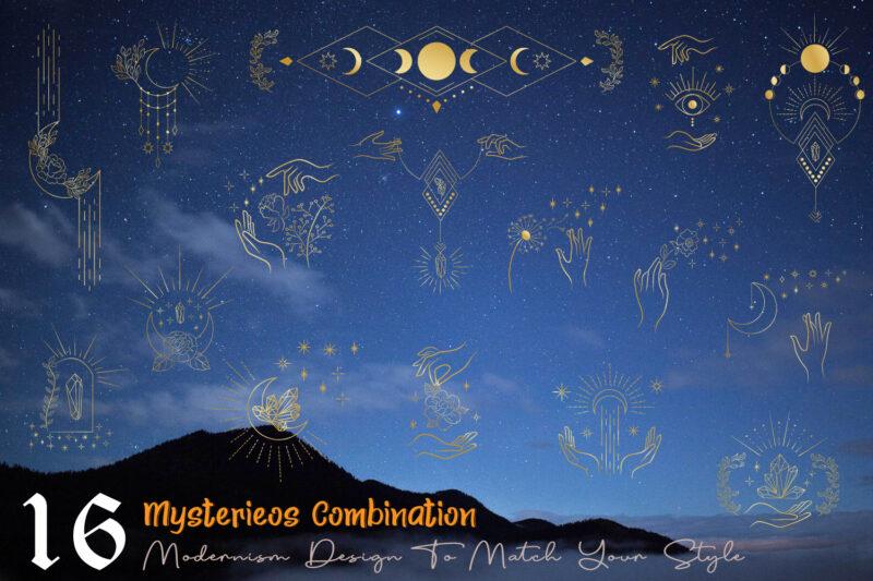 Moon and Sun Mystery Symbol