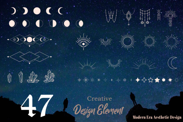 Moon and Sun Mysteries Symbol Elements
