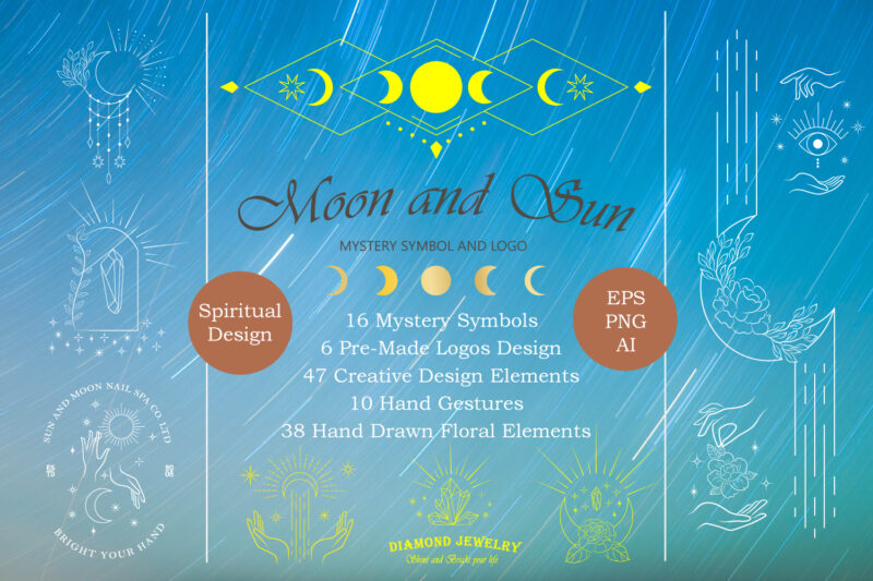 Moon and Sun Mystery Symbol and Logo – Discount 50%