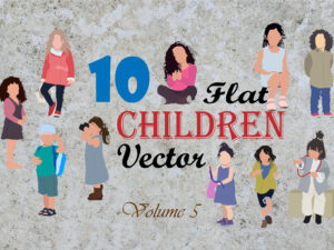 Free Children Vectors