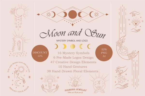 Moon and Sun Symbol