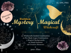 Golden Mystery Magical Witchcraft