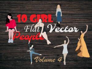 Free Flat Girl Vectors