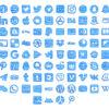 Free Blue Sketch Watercolor Social Icons