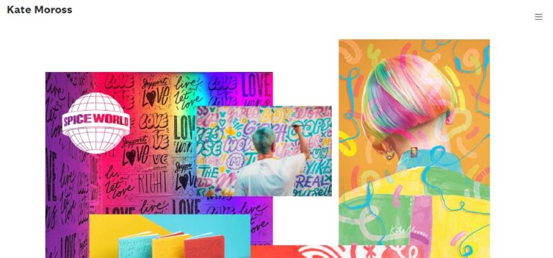 Kate Moross Portfolio. How To Create An Awesome Graphic Design Portfolio
