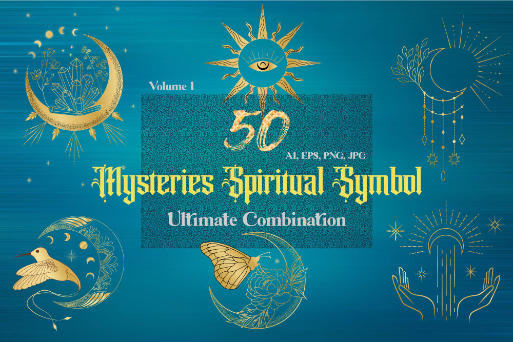 Mysteries Spiritual Symbols Graphic Elements | Ultimate Combination