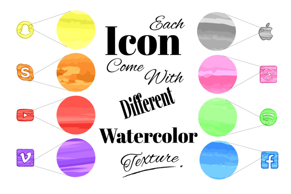 Watercolor Icon texture