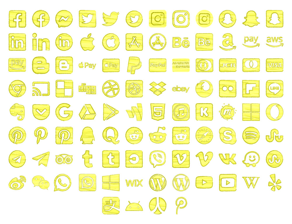 Watercolor Icon Yellow