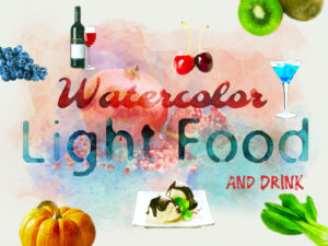 Watercolor Light Food and Drink Elements