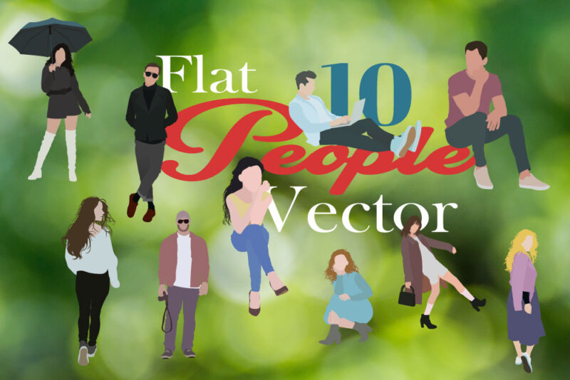 10 Free Flat People Vector
