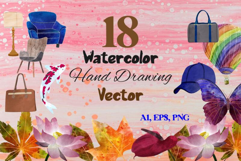 Hand Drawing Watercolor Vector