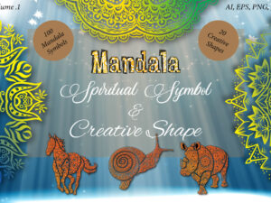 Mandala Spiritual and Ritual Symbols with Creative Shape