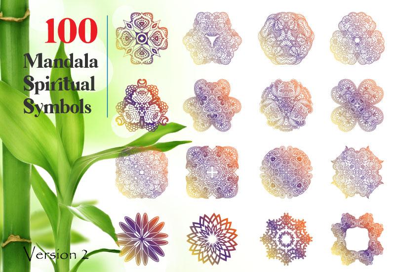 200 Mandala Spiritual Graphic Vol.1 and Vol.2